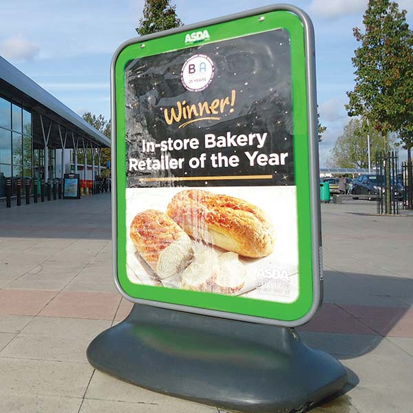pavement and forecourt signage